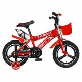 Bicicleta Copii Carpat C1400A, Roti 14inch, Frane C-Brake, Roti Ajutatoare cu LED (Rosu)