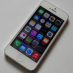 IPHONE 5 - 16GB Alb Liber de Retea Functional 10/10 Neverlocked Uzura Nota 7/10, Neblocat