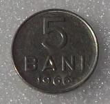 ROMANIA 5 bani 1966 RSR FRUMOS **