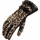 Manusi moto dame piele Icon CatWalk Leopard culoare negru marime S Cod Produs: MX_NEW 33020315PE