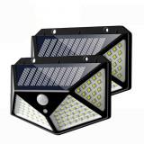 Set 2 Lampi ULTRA 100 LED Solare cu senzor de miscare si lumina 3 moduri ILUMINARE