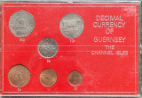 Guernsey set 1/2 1 2 5 10 50 pence 1979 1981, Europa