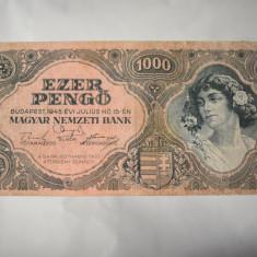 Bancnota Ungaria - 1000 Pengo 1945 Ezer Pengo