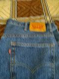Pantaloni tip blugi, barbat, LEVI STRAUSS, SUA,  masura 40x32, noi, nepurtati