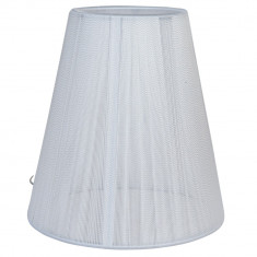 Abajur veioza textil alb Ø 14x15 cm E14