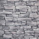 Tapet 3D, imitatie de piatra, gri, spuma, bucatarie, HC11026-14