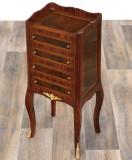 Comoda furniruita din lemn masiv  CAT-Table-4-drawers, Comode si bufete