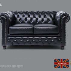 Canapea Chesterfield  din piele naturală de 2 locuri-Chesterfield Brand