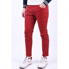 Pantaloni Selected Slim-Leon Red Dahilia
