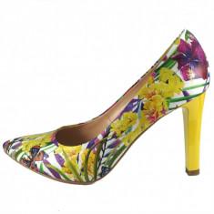 Pantofi dama, din piele naturala, marca Botta, 428-15-05, multicolor 38