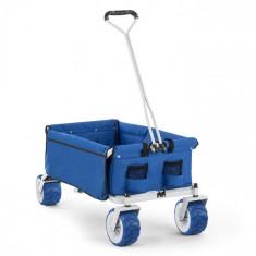 Waldbeck THE BLUE, albastru, cărucior de mână, pliabil, 70 kg, 90 L, roți Ø 10 cm