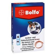 Zgardă antiparazitară BOLFO pentru câini mici și pisici, 35 cm