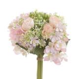 Buchet flori decor Pink 24 cm