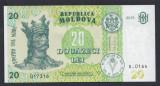 A5122 Moldova 20 lei 2015 UNC
