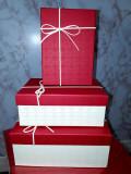 Set 3 cutii aranjamente trandafiri de săpun dreptunghi 21/15/h 9 cm