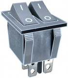 Intrerupator dublu, ON-OFF, 15A, 250V, 2 pozitii - 120580