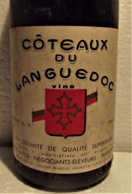 90 - Vin COTEAUX DU LANGUEDOC, cl 75 gr 12 RECOLTARE 1964 foto