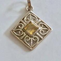 Argint PANDANTIV CU CITRIN