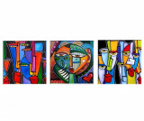Cumpara ieftin Set 3 tablouri Picasso 30x30 cm - Tablo Center, Multicolor