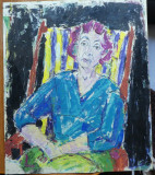 Luminita Costea  , Portret , ulei / carton