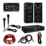 Electronic-Star EStar, set de petreceri HiFi DJ PA, amplificator, boxe, mixer, microfoane, cabluri