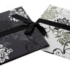 Album foto Leporello Black&White, 14 fotografii 13x18, imprimeu floral
