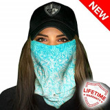 Bandana/Face Shield/Cagula/Esarfa - Tidal Waves, made in USA, Din imagine