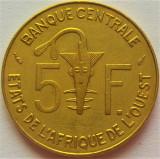 Cumpara ieftin Moneda exotica 5 FRANCI - AFRICA de VEST, anul 1984 *cod 997 = excelenta