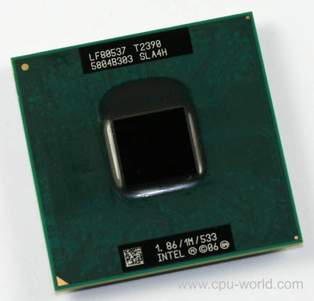 Intel Pentium Processor T2390 (1M Cache, 1.86 GHz, 533 MHz FSB) socket PPGA478