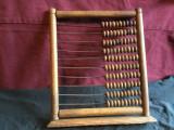 Numaratoare / Socotitoare / Abac din lemn - material didactic vechi de colectie