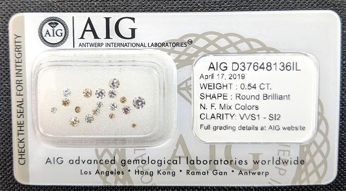 Lot 18 Diamante 0,54 ct  Certificat Autenticitate