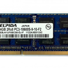 Memorie Laptop SODIMM Elpida 4GB DDR3 PC3-10600S 1333Mhz