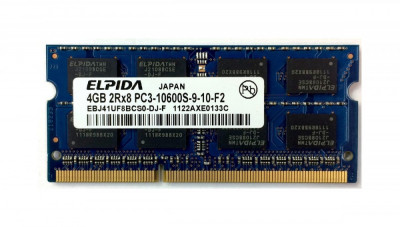 Memorie Laptop Elpida 4GB DDR3 PC3-10600S 1333Mhz foto