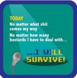 Suport pahar - I will survive | Boxer
