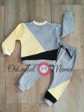Trening 3 culori bumbac bebe – gri, galben, gri