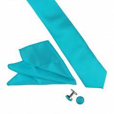 Cravata turcoaz slim batista Fleming