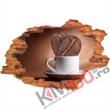 "Sticker ""Wall Crack"" Cafea 7 - 120 x 80 cm"