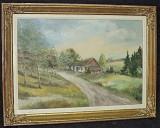 Ulei pe panza un tablou foarte vechi,lucrare semnata cu o rama din