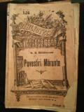 "Carte ""Povestiri marunte"" de N.N. Beldiceanu, BPT, ediție interbelică"