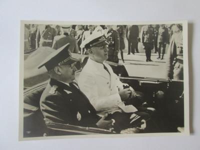Raritate! Foto originala premierul roman I.Gigurtu si J.von Ribbentrop 1940 foto