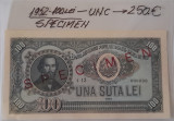 Bancnota 100 lei SPECIMEN 1952 UNC
