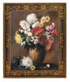 36 Flori de toamna tablou cu tufanica Tablouri Pictura in ulei pe panza 41x49 cm
