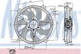 Ventilator, radiator CITROEN C8 (EA, EB) (2002 - 2016) NISSENS 85606