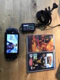 Consola sony psp-1004 + 3 jocuri + incarcator + card sony