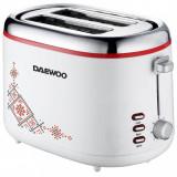 Prajitor de paine Daewoo DBT70TR, 900 W, design traditional, 2 felii, indicator luminos, carcasa CoolTouch, Alb