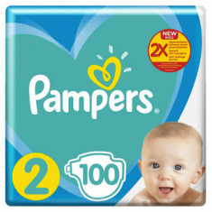 Scutece Pampers New Baby 2 Giant Pack, 4-8 kg, 100 buc