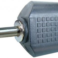 Adaptor jack tata 3,5 mm mono la 2 x RCA tata - 126635