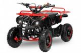 Mini ATV Electric Eco Torino Deluxe 1000W 48V cu 3 Trepte de Viteza Rosu