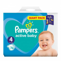 Scutece Pampers Active Baby 4 Giant Pack, 76 buc/pachet