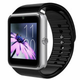 Cumpara ieftin Smartwatch U-Watch GT08 Bluetooth Negru-Argintiu, Compatibil SIM, MicroSD